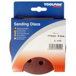 115mm Hook & Loop Sanding Discs 8 Hole - Display Pack
